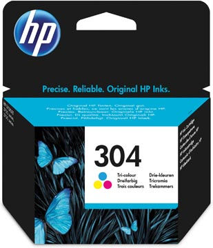 HP cartouche d'encre 304, 100 pages, OEM N9K05AE, 3 couleurs