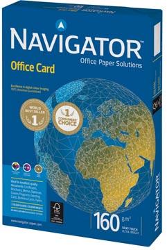 Navigator Office Card papier de présentation, ft A4, 160 g, paquet de 250 feuilles