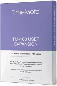 Safescan TimeMoto Cloud User Expansion paquet, 100 utilisateurs