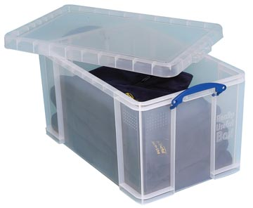 Really Useful Box boîte de rangement 84 l, transparent