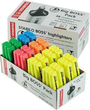 STABILO BOSS ORIGINAL surligneur, paquet de 48 pièces en couleurs assorties