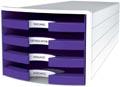 Han blac à tiroirs Impuls, tiroirs ouverts, Trend Colour pourpre