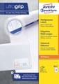 Avery Zweckform 3661, Universele etiketten, Ultragrip, wit, 100 vel, 12 per vel, 70 x 67,7 mm